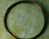 24g Brass Wire - Hand Antiqued - 10 feet of 24g Hand Antiqued Yellow Brass Wire - Patina Queen