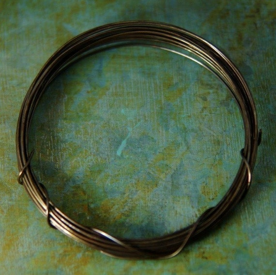 10 ft. of 22g Hand Antiqued Brass Wire