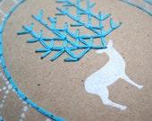 DIY Embroidery Holiday Deer Card Kit