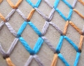 Geometric Pattern: Embroidery on wood