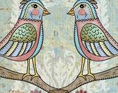 Birds of a Feather - Spring Paris Tweets   - Art Print