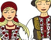 Croatian Folklore Dancers - The couple