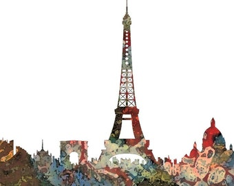 Spring in Paris  Print of Mixed Media by Diana Evans