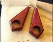 Wood Earrings - Purpleheart - Prism Style