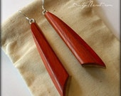 Wood Earrings - Paduak an...