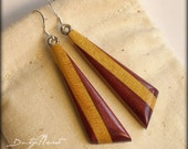 Wood Earrings - Pau Amare...