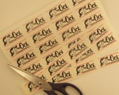 Custom Designed Sew-On Fabric Craft Labels - NOW - Three Uncut Sheets at a Discount - 120 Labels