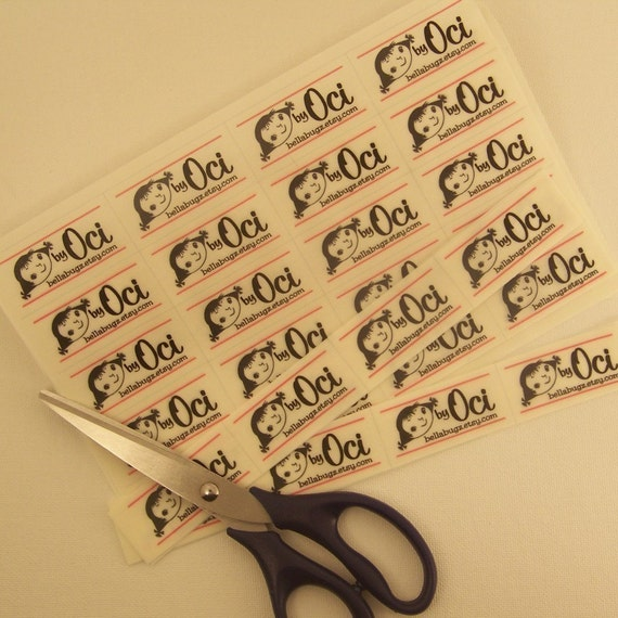 Custom Designed Sew-On Fabric Craft Labels - Three Uncut Sheets at a Discount - 120 Labels
