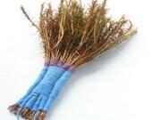Decorative fanshaped moss bristle ooak