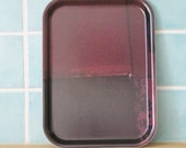 small tray -  wood plate - small rectangular chocolate brown tv tray - kitchen decor