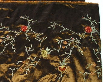 Embroidery Long Remnant Polyester Fabric, Craft, Pillows, Sofa Scarf, Runner etc