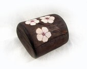 Cherry Blossom Sycamore Rustic Ring or Trinket Box by Tanja Sova