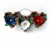 Wicker Rustic Hearts Tricolor Washi Paper - Marshmallow Flowers - Althaea officinalis  by Tanja Sova