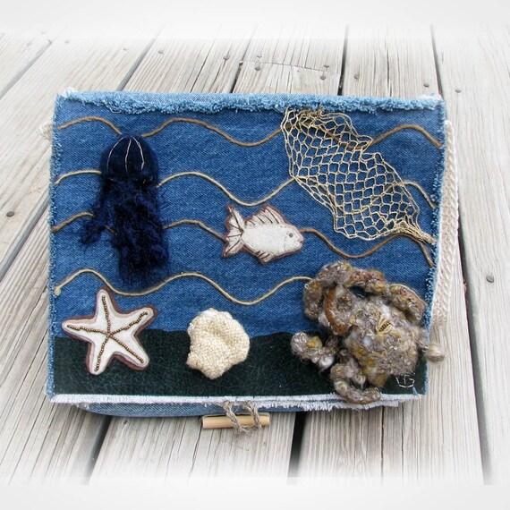 Upcycled denim Ocean purse