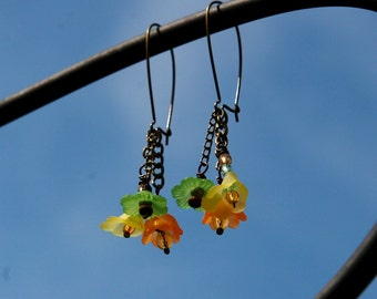 "Sherbert Petals-Earrings-""FREE SHIPPING"""