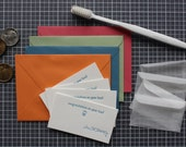 Full Mouth Set: Tooth Fairy Letterpress set of twenty cards, Loot Envelopes, and Tiny tooth Envelopes
