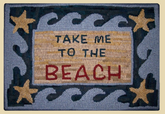 Outdoor Beach Rugs Rug Hooking Pattern Beach