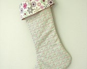 Modern Polka Dots Christmas Stocking