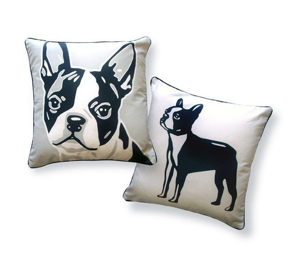 BOSTON TERRIER Pillow from the doggie style collection