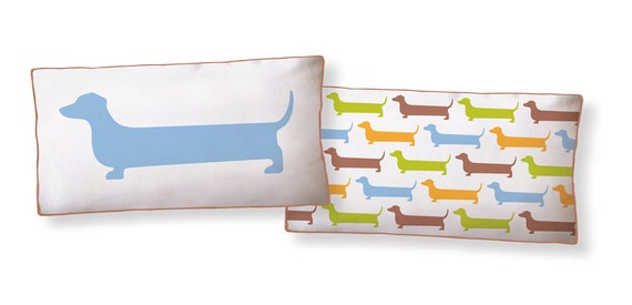 Super Dachshund Long Pillow/Cushion (as seen in Family Circle Magazine)