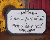Wooden Home Decor Sign, Book, Read, Rustic, Quote, Wall Hanging, Home Office, or Library Decor