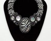 reserved for 1applejack   Savana star bead embroidered necklace