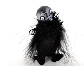 black ckicken chick bjd prop black bird feathered bird easter