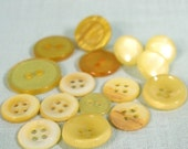 Yellow and Gold Button Assortment