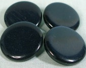 Navy Blue Button set of four