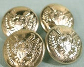 Shiny Gold Eagle Buttons