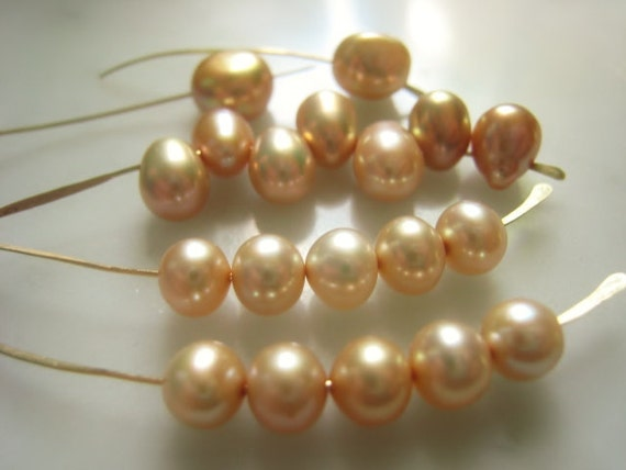 5.5-8.5mm Champagne Mixed Freshwater Pearl Parcel of Nineteen Item No. 5041