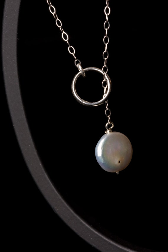 Ring and White Mother of Pearl Necklace, adjustable, fun to wear