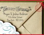Merry Christmas Custom Self Inking Address Stamp, Custom Address Stamp, Gift Tag, Custom Stamp, Address Stamp, Christmas gift Holiday Gift 7
