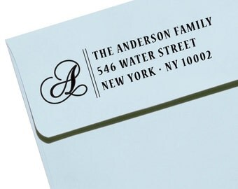 CUSTOM ADDRESS STAMP with proof from usa, Eco Friendly Self-Inking stamp, rsvp address stamp, custom stamp, monogram custom address stamp 42