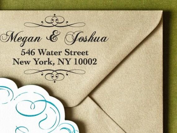"LARGE Personalized Eco Friendly Self Inking Stamp Wedding Gift, Return Address, Etsy Shop Labels ""Border13"""