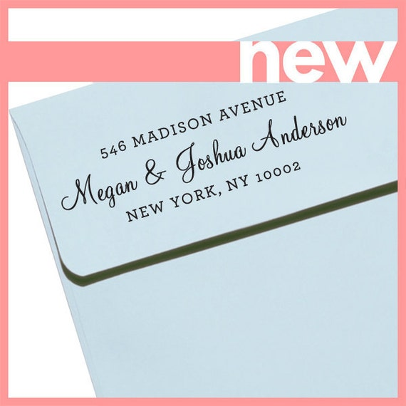 "CUSTOM ADDRESS STAMP - Eco Friendly & self inking, gifts for wedding, housewarming, etsy labels, return address stamp ""Name 54"""
