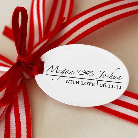 "Custom Personalized Self Inking Stamp Wedding Gift, Return Address, Etsy Shop Labels ""Names2"""