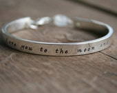 VALENTINE'S DAY Gift - I Love You To the Moon and Back Bracelet - Personalized