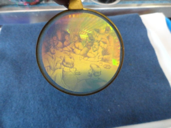 Last Supper Hologram Pendant from the 80's to 90's Vintage CP 917