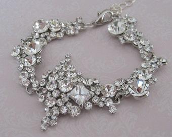 Bridal jewelry - Bridal Accessories - Crystal Rhinestone Bracelet Earrings Set - Wedding jewelry -Bridesmaids Bracelet