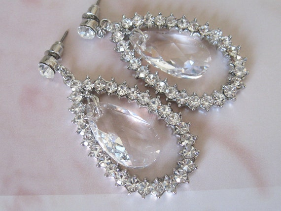 CLEARANCE Bridal Swarovski Rhinestone Dangle Earrings - Bridal Jewelry - Wedding Jewelry - Bridal Accessories