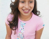 CUTE HEARTS  NECKTIE appliqued on a pink girly fit rib tee.........  Great summer outfit idea.