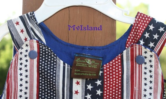 Stars and Stripes Patriotic 12-18 months Romper