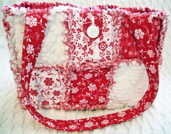 how to make a rag quilt purse