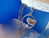 Encircled Bird Necklace