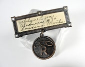Vintage Rebekah Lodge Oddfellows Pin, Name Tag