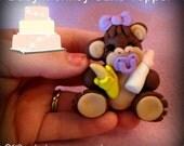 SALE was 36.95 Baby Monkey Cake Topper custom