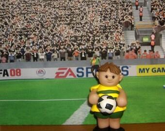 Birthday cake topper Boy or Girl Soccer Player customizable