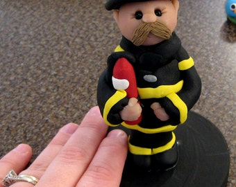 Fire Fighter Cake Topper customizable