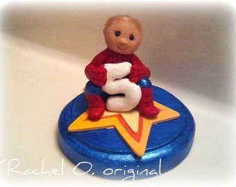 Super hero cake topper